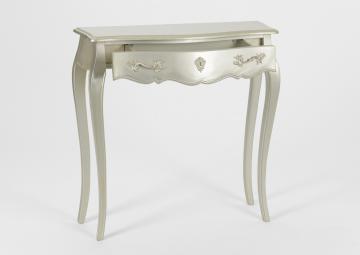 Console 1 Tiroir Murano Silver