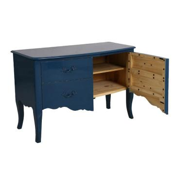 Commode 2 Portes Bleu Saphir