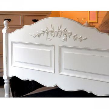 Lit Romance Blanc Vieilli 90x190cm