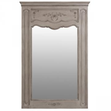 Grand miroir trumeau ch teau d pendances gris miroirs for Grand miroir gris