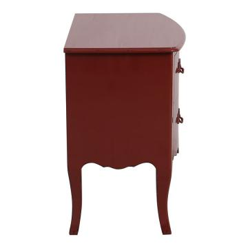 Commode 4 Tiroirs Rouge Seville