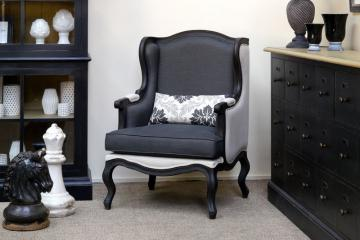 style campagne fauteuil c sarine manoir country corner. Black Bedroom Furniture Sets. Home Design Ideas