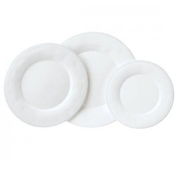 Assiettes Constance Blanche (2 tailles)
