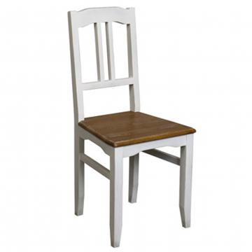 Chaise Esquisse Blanche Assise Bois