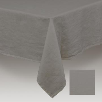 Nappe 100% Lin Lavé Gris Anthracite  150x250 ou 150x300