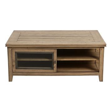 Table Basse Initiale Naturel Grisé
