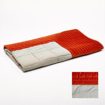 Boutis Housse de Couette Orange 240 x 260