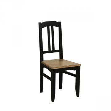 Lot de 2 Chaises Assise Bois Esquisse Noir Vieilli