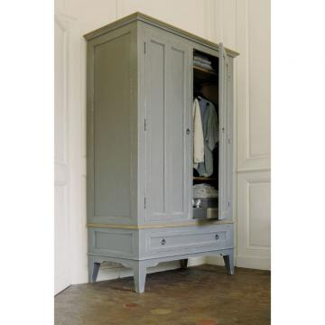 style campagne armoire esquisse grise country corner moins cher. Black Bedroom Furniture Sets. Home Design Ideas