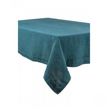 Nappe Lin Lavé Naïs Bleu de Prusse (2 Tailles au choix)