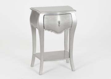 Chevet 1 Tiroir Murano New Silver