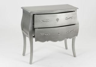 Commode Murano New Silver 2 Tiroirs