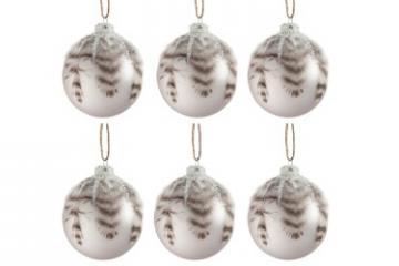 Coffret 6 Boules de Noël Plumes
