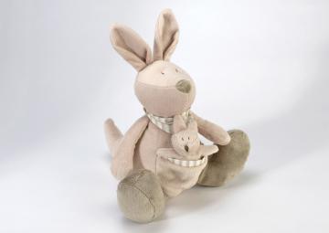 Peluche Kangourou & son Bébé