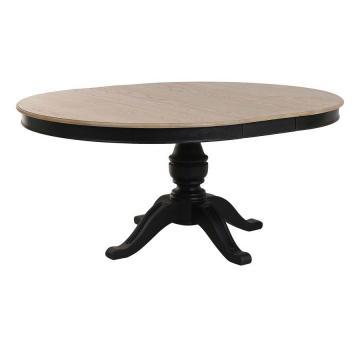 Table Ronde Extensible Manoir Noir