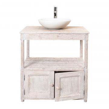 Meuble vasque meubles salle de bain style campagne for Meuble country corner