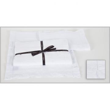 6 Serviettes de Table Naïs Blanc