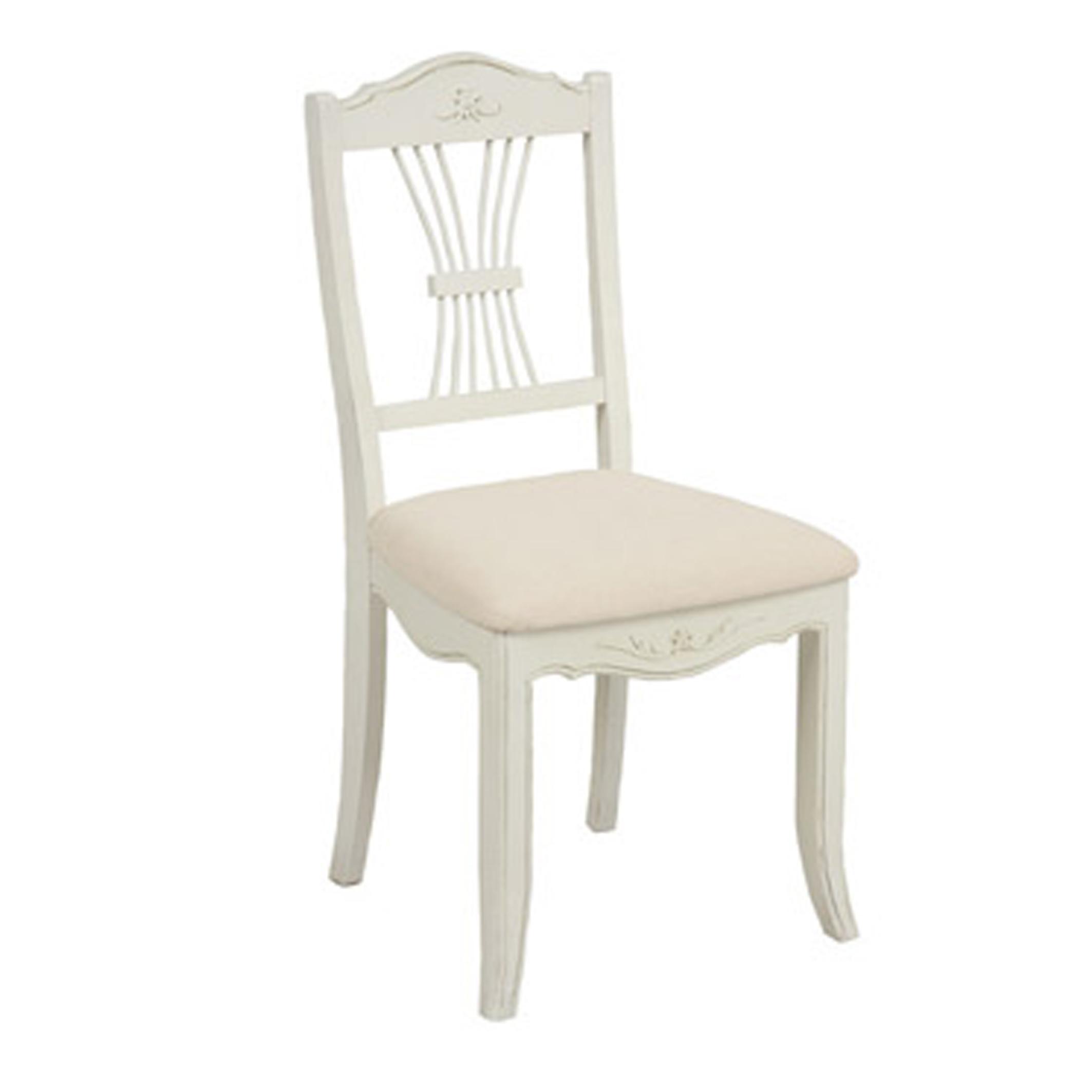 Chaise Lubéron Blanc Tissu Assise Vieilli b6yY7fg