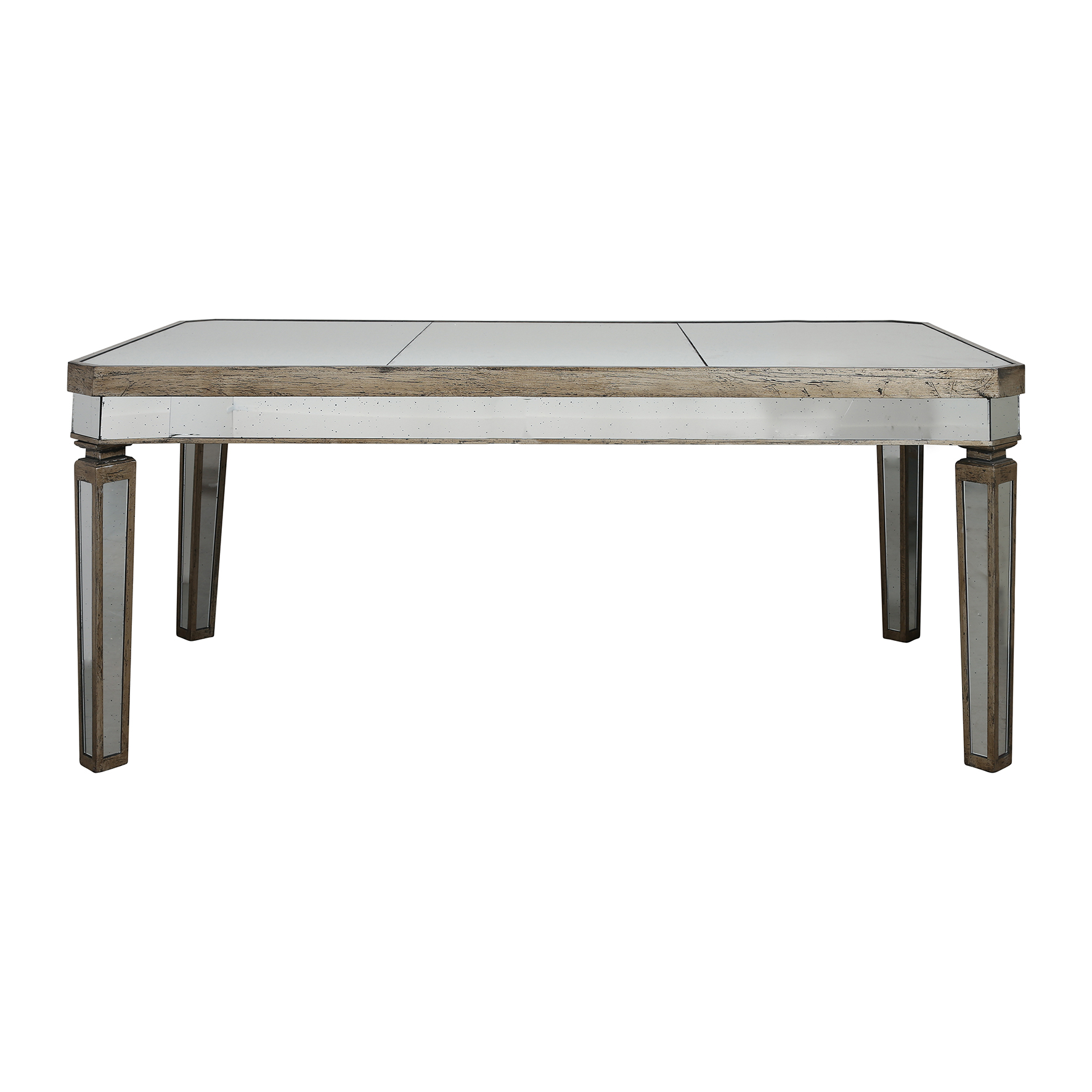 Style campagne table bois miroir cot table moins cher for Table en bois style campagne
