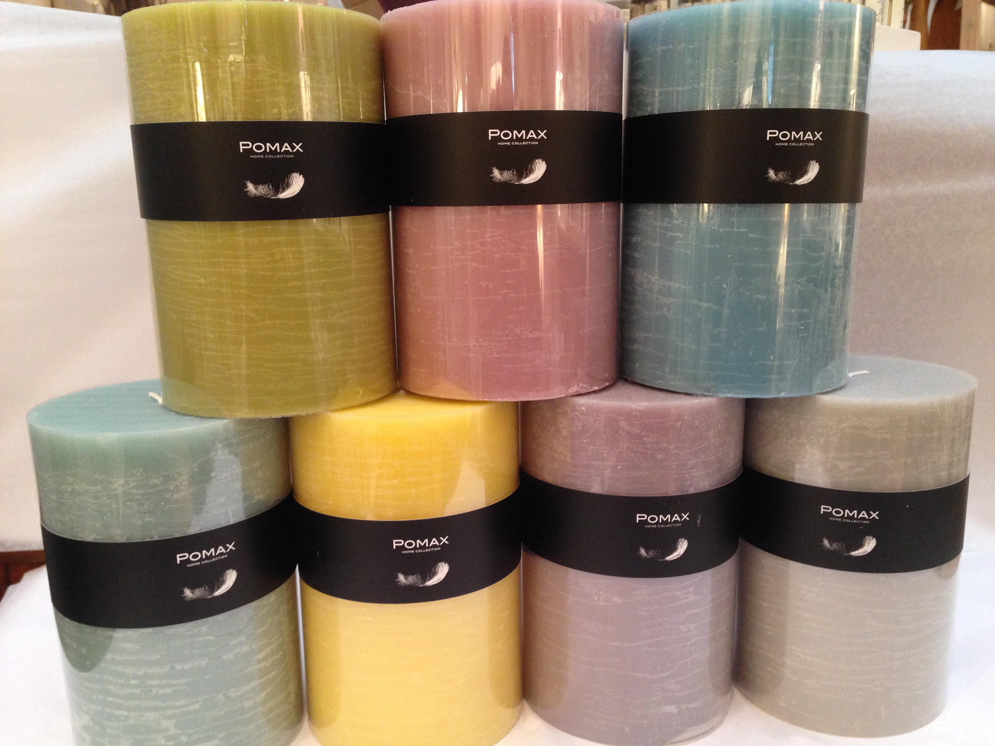 linge de lit pomax Bougie Cylindrique Pomax PM (9 couleurs au choix)   Bougies  linge de lit pomax