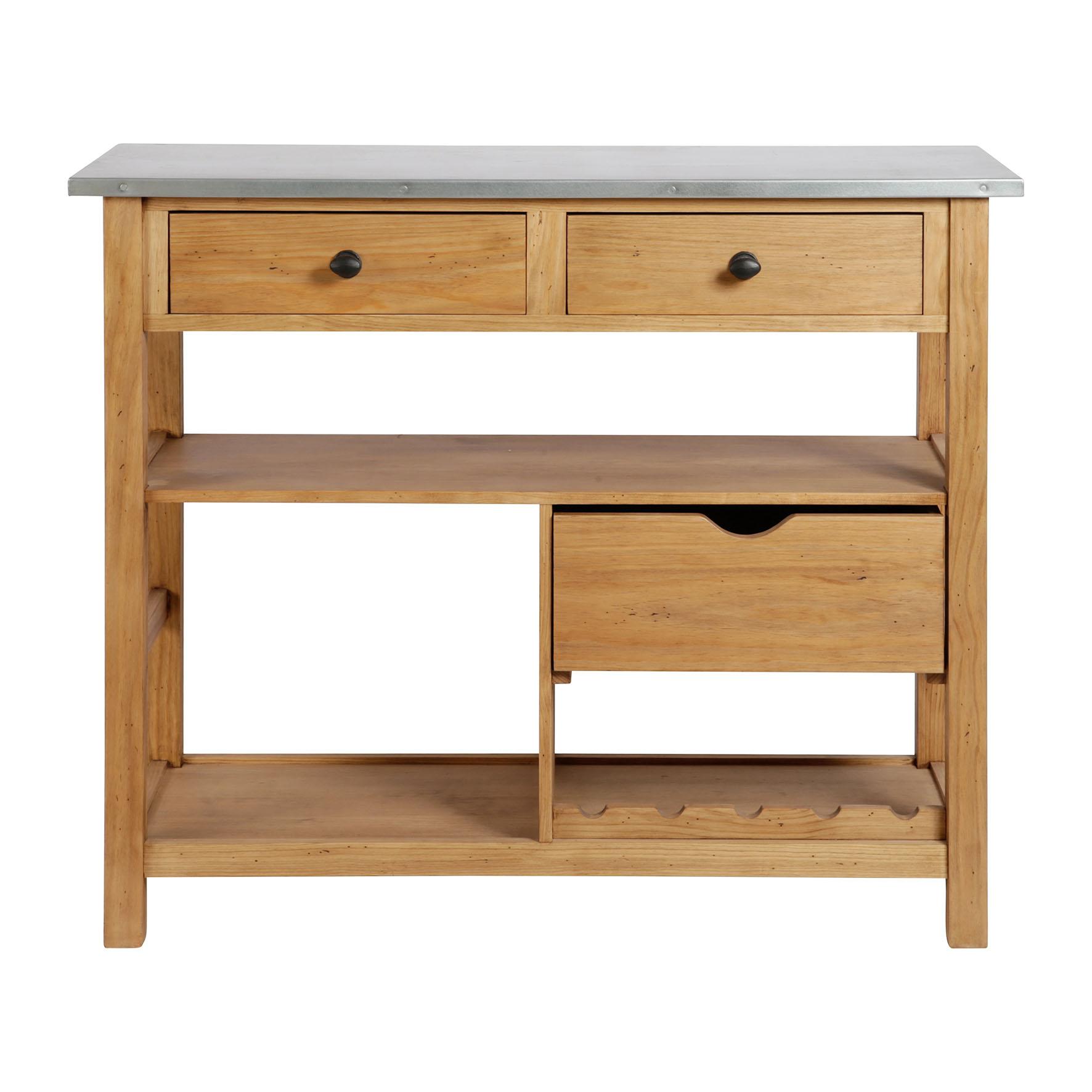 ilot de cuisine billot terroir comptoir de famille. Black Bedroom Furniture Sets. Home Design Ideas
