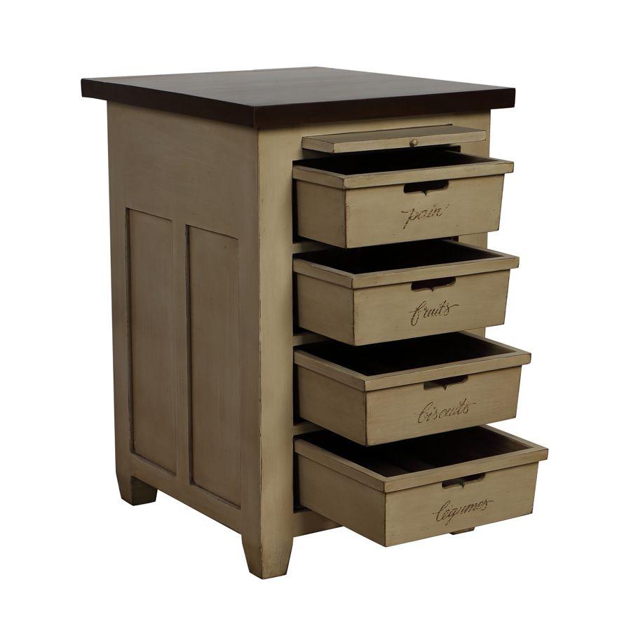 Meuble 4 bacs brocante meubles de cuisine style campagne for Meuble de cuisine style campagne